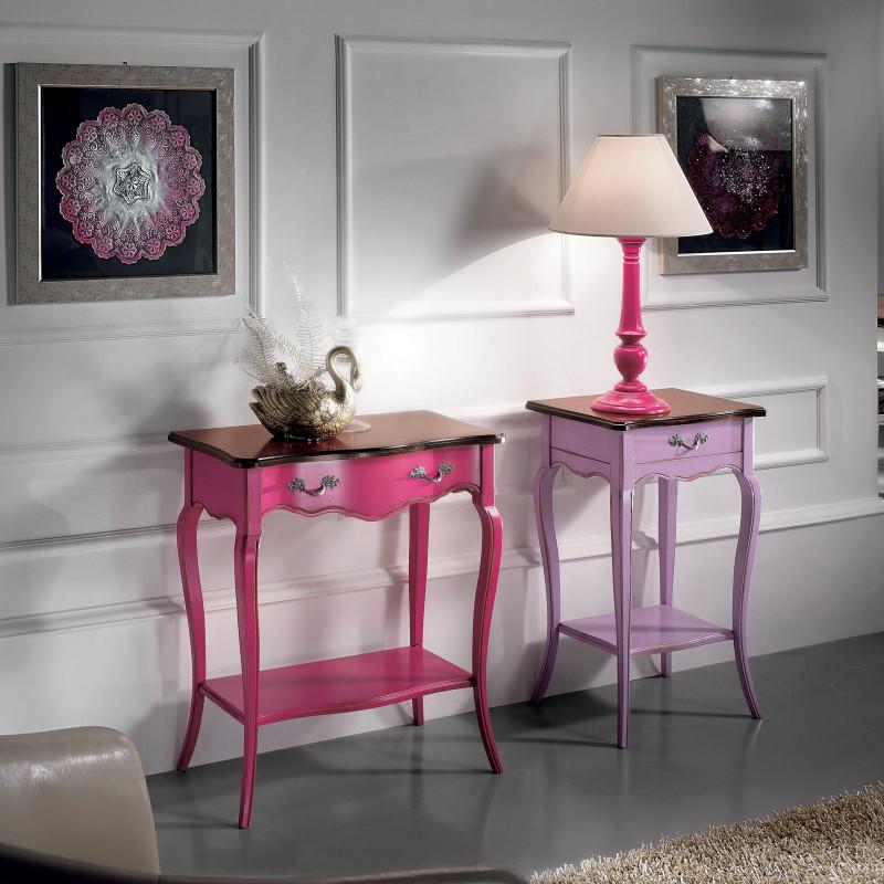 Consolina 700 1 cassetto finitura rosa francese for Mobili 700 francese
