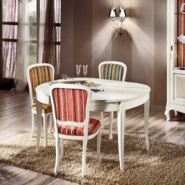 Tavolino ovalino 80/130x110 gambe sciabola