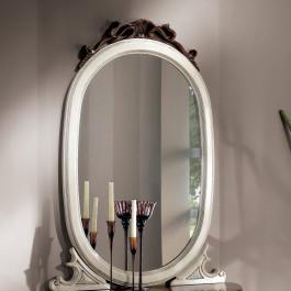 Specchiera ovale intagliata
