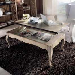 Tavolino rialzabile in frassino gambe 700