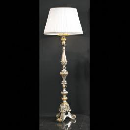 Lampada foglia argento con dettagli in oro e nero