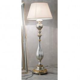 Lampada foglia argento con dettagli in oro