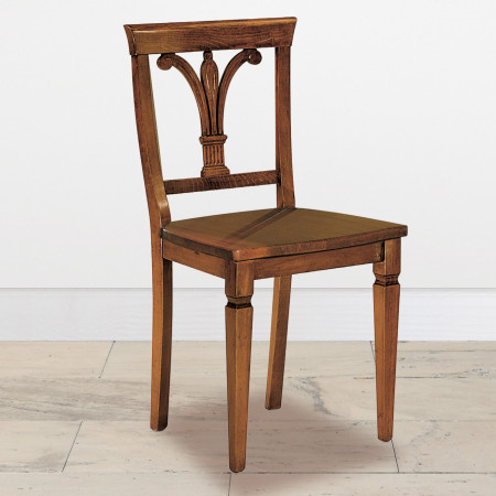 Sedia giglio con sedile in legno