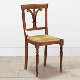 Sedia gambe tornite paglia rustica