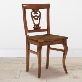 Sedia gambe sagomate sedile in legno