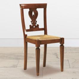 Sedia gambe incise paglia rustica