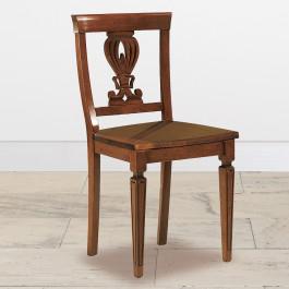 Sedia gambe incise sedile in legno articolo 95