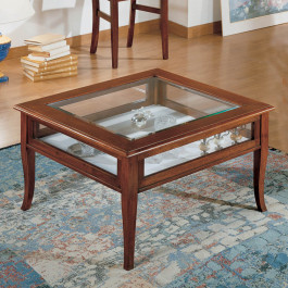Tavolino quadrato con ribalta  80x80