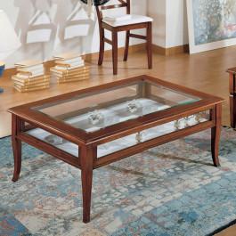 Tavolino rettangolare con ribalta 120 x 60