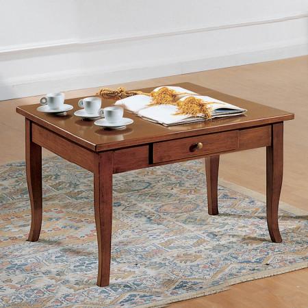 Tavolino quadrato con cassetto 70 x 70