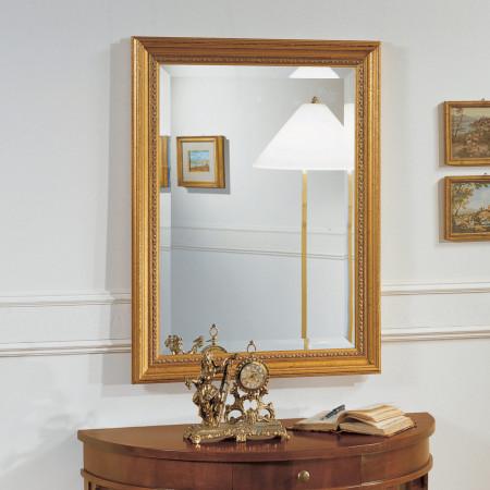 Specchiera rettangolare dorata