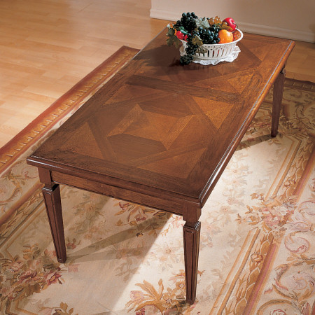 Tavolino 120x60 intarsio parquet