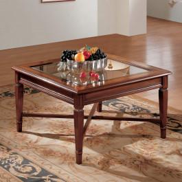 Tavolino con filetto 80x80