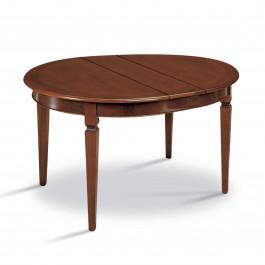 Tavolo con riquadro rotondo diametro 120/160