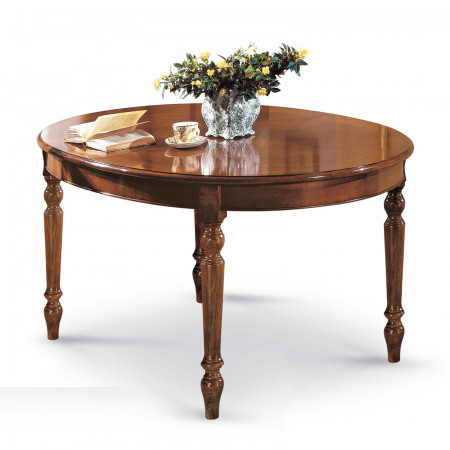Tavolo ovale 160/210x110 impiallacciato ciliegio