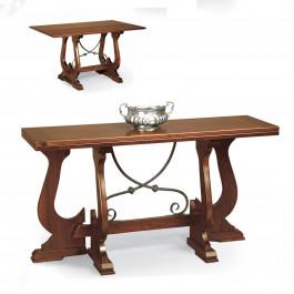Tavolo consolle con ferro 140 x42/84