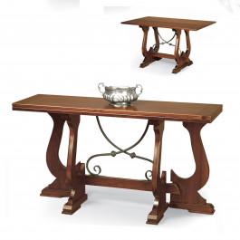 Tavolo consolle con ferro 160 x42/84