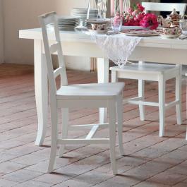 Sedia con fondino in legno shabby chic