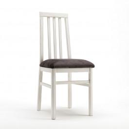 Sedia con fondino imbottito in tessuto