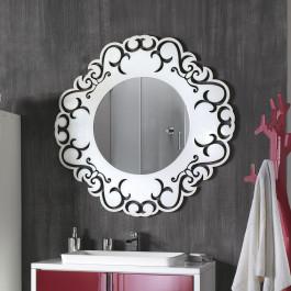 Cornice con specchio rotonda