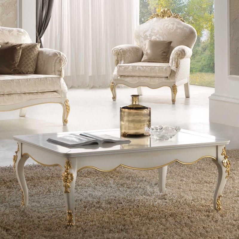 Tavolino Da Salotto Quadrato Classico.Tavolino Da Salotto Rettangolare Classico