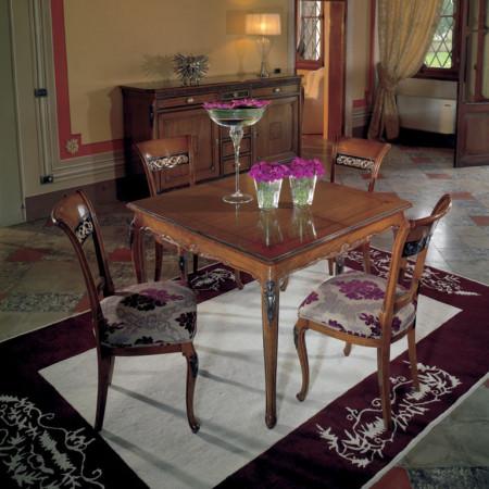 Tavolo allungabile quadrato 110/165x110 piede 700 venezia