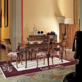 Tavolo allungabile rettangolare 160/250x90 piede 700 venezia