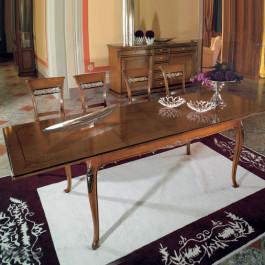Tavolo allungabile rettangolare 200/300x110 piede 700 venezia