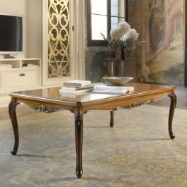 Tavolino rettangolare con piedi 700