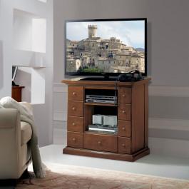 Porta televisore 9 cassetti in legno massello