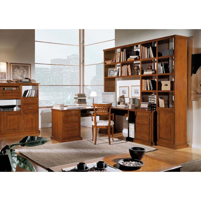 Libreria con scrivania anche a misura