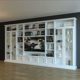 Libreria porta tv classica in legno