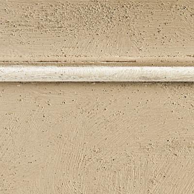 Pennellato beige con bordino bianco
