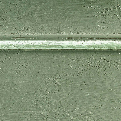 Pennellato verde con bordino bianco