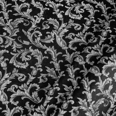 Tessuto Vanessa 5636 grigio nero